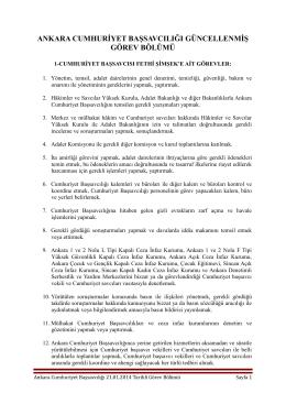 21/01/2014 Tarihli İş Bölümü