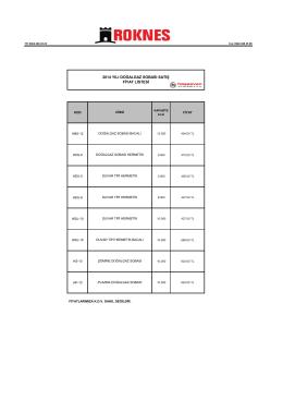 2014 yılı doğalgaz sobası satış fiyat listesi