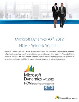 Dynamics AX HCM – Yetenek Yönetimi