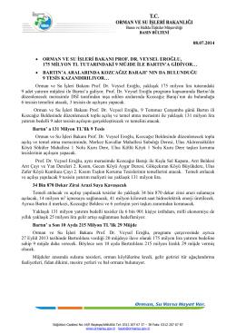 08.07.2014 • orman ve su işleri bakanı prof. dr. veysel eroğlu, 175