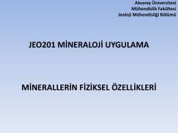 Slayt 1 - Aksaray Üniversitesi Mühendislik Fakültesi