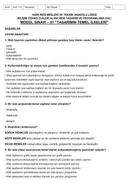 MODÜL SINAVI-01 TASARIMIN TEMEL İLKELERİ And 11C