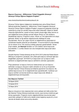 İhale (PDF) - Robert Bosch Stiftung
