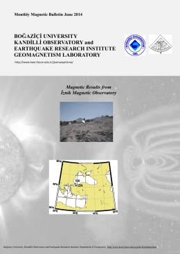Download the PDF file - Kandilli Rasathanesi ve Deprem Araştırma