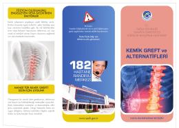 kemik greft.indd - Sakarya Eğitim ve Araştırma Hastanesi