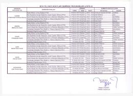 2014 yılı hacı adayları seminer programları (lıste-2)