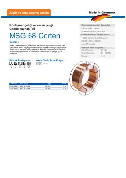 MSG 68 Corten - teknolit.com.tr