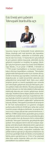 Esis Enerjii Yeni Enerji Dergisi Teknopark Şubesi Açılış Kokteyli