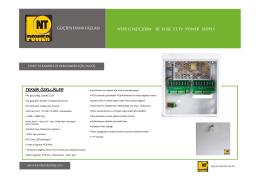 ntps1216dc200w 16 fuse cctv power supply güçten daha fazlası