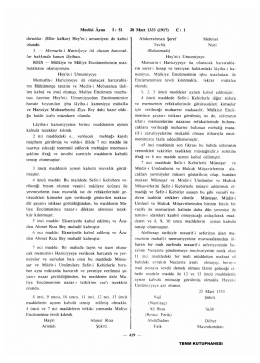 Meclisi Ayan İ : 51 28 Mart 1333 (1917) C: 1 dırsınlar. (Eller kalkar