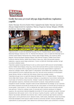 Manisa Tempo Haber - Çevre ve Şehircilik Bakanlığı
