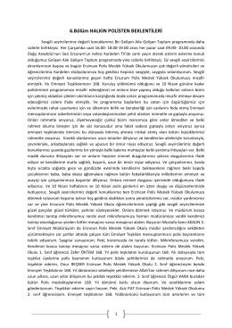 6.Bölüm HALKIN POLİSTEN BEKLENTİLERİ