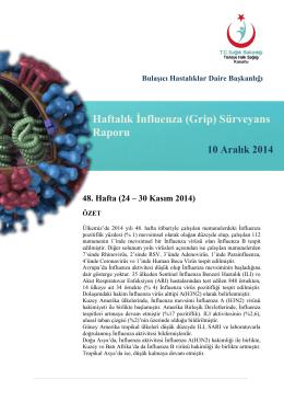 48. Hafta (24 – 30 Kasım 2014)
