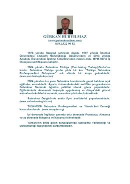 Gürkan HÜRYILMAZ / Endüstri Mühendisi