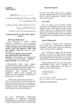 Muhterem Müslümanlar
