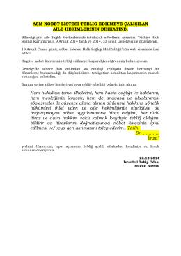 Yazının devamını oku - İstanbul Tabip Odası
