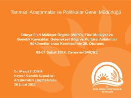 Dünya Fikri Mülkiyet Örgütü (WIPO), Fikri Mülkiyet ve Genetik