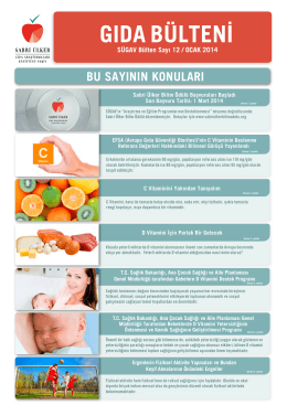 d vitamini - Sabri Ülker Gıda Araştırmaları Enstitüsü Vakfı