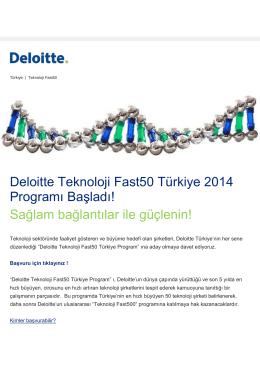 Deloitte Teknoloji Fast50 Türkiye 2014 Programı Başladı