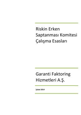 2014 GF Riskin Erken Saptanması Komitesi