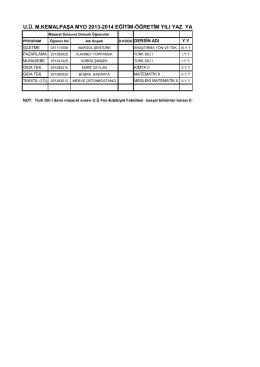 u.ü. m.kemalpaşa myo 2013-2014 eğitim