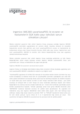 Ingenico iWE280 yazarkasaPOS ile eczane ve