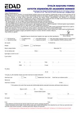 EDAD Üyelik formunu PDF olarak bilgisayarınıza indirmek için