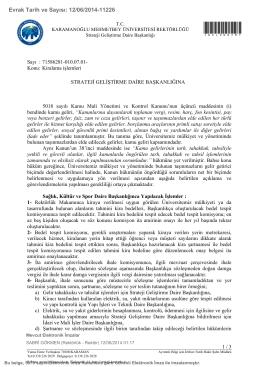 Kiralama işlemleri - KMÜ Strateji Geliştirme Daire Başkanlığı