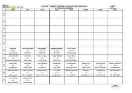asıcs 15. fehmi kızıl senıor turnuvası maç programı