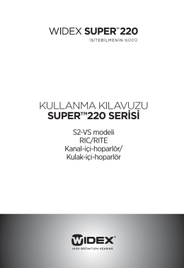 kullanma kılavuzu super™220 serisi