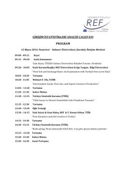 Çalıştay Programı - REF