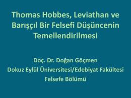 Thomas Hobbes, Leviathan ve Barışçıl Felsefe