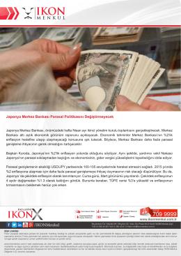 Japonya Merkez Bankası Parasal Politikasını Değiştirmeyecek