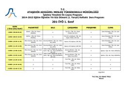 201-İYÖ 1. Sınıf - Ataşehir Adıgüzel Meslek Yüksekokulu