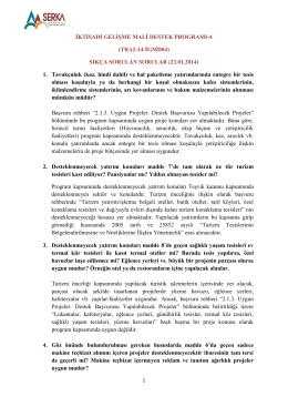 İKTİSADİ GELİŞME MALİ DESTEK PROGRAMI-4 (TRA2-14