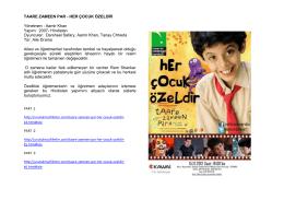 TAARE ZAMEEN PAR - HER ÇOCUK ÖZELDİR Yönetmen : Aamir