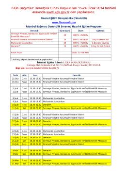 KGK Bağımsız Denetçilik Sınav Başvuruları 15