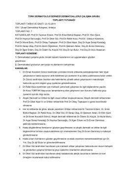 Kararlar - 2014 - Türk Dermatoloji Derneği