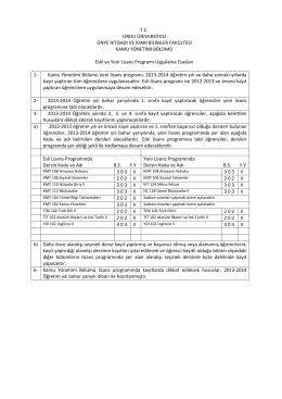 kamu yönetimi bölümü - Ünye İktisadi İdari Bilimler Fakültesi