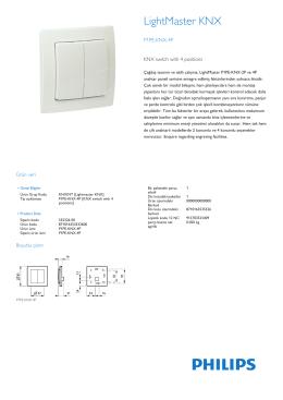Çağdaş tasarım ve akıllı çalışma, LightMaster P1PE-KNX