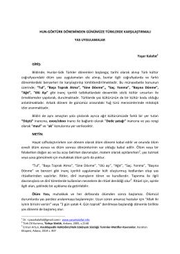hun-göktürk döneminden günümüze türklerde karşılaştırmalı yas