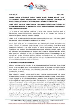 basın bülteni 05.12.2014 ankara gümrük müşavirleri derneği
