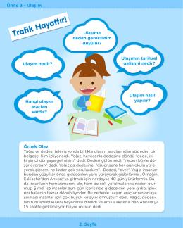 Ünite 3 - Ulaşım 2. Sayfa Ulaşıma neden gereksinim duyulur