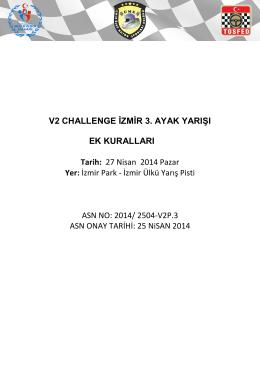 V2 Challenge Ek Kuralları için tıklayınız