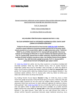 25.02.2014 Osmanlı mimarisinin, kültürünün ve