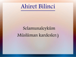 Ahiret Bilinci - WordPress.com
