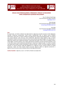 26.Kandil İngeç - Eğitim ve Öğretim Araştırmaları Dergisi