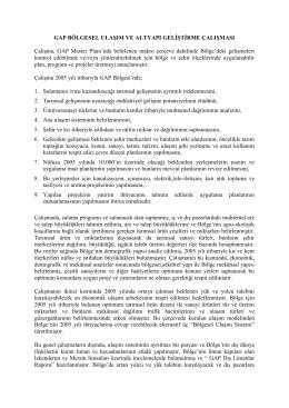 GAP Bölgesi Ulaşım ve Altyapı Projesi (BUA)