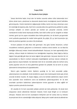 Turgay OVALI 20. Yüzyılda Kır-Kent Çelişkisi Sanayi