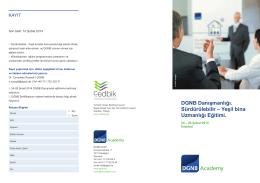DGNB Danışmanlığı. Sürdürülebilir – Yeşil bina Uzmanlığı Eğitimi.